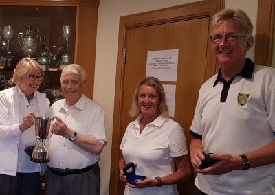 2019 Mixed Pairs winners and runners up
