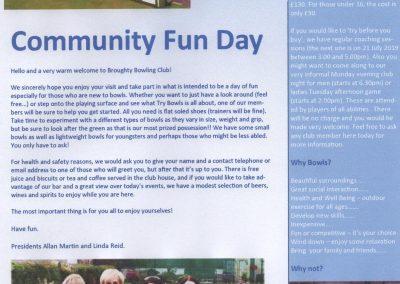 2019 Community Fun Day Handout